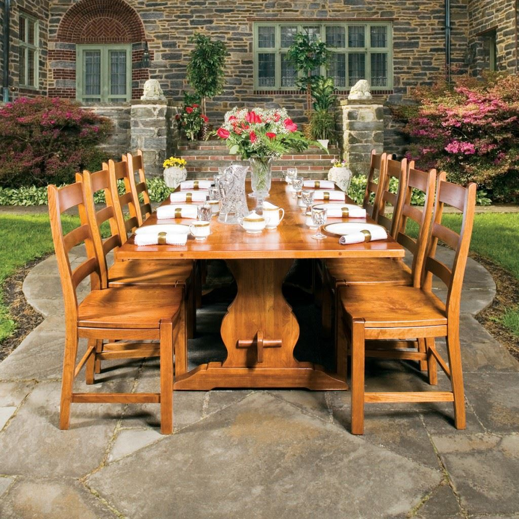 French Trestle Dining Set