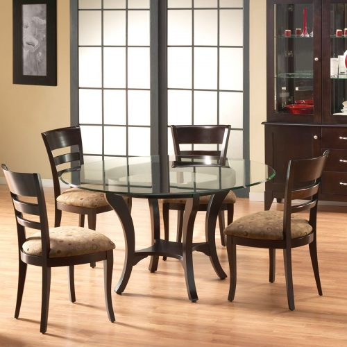 Transitional Glass Top Round Set