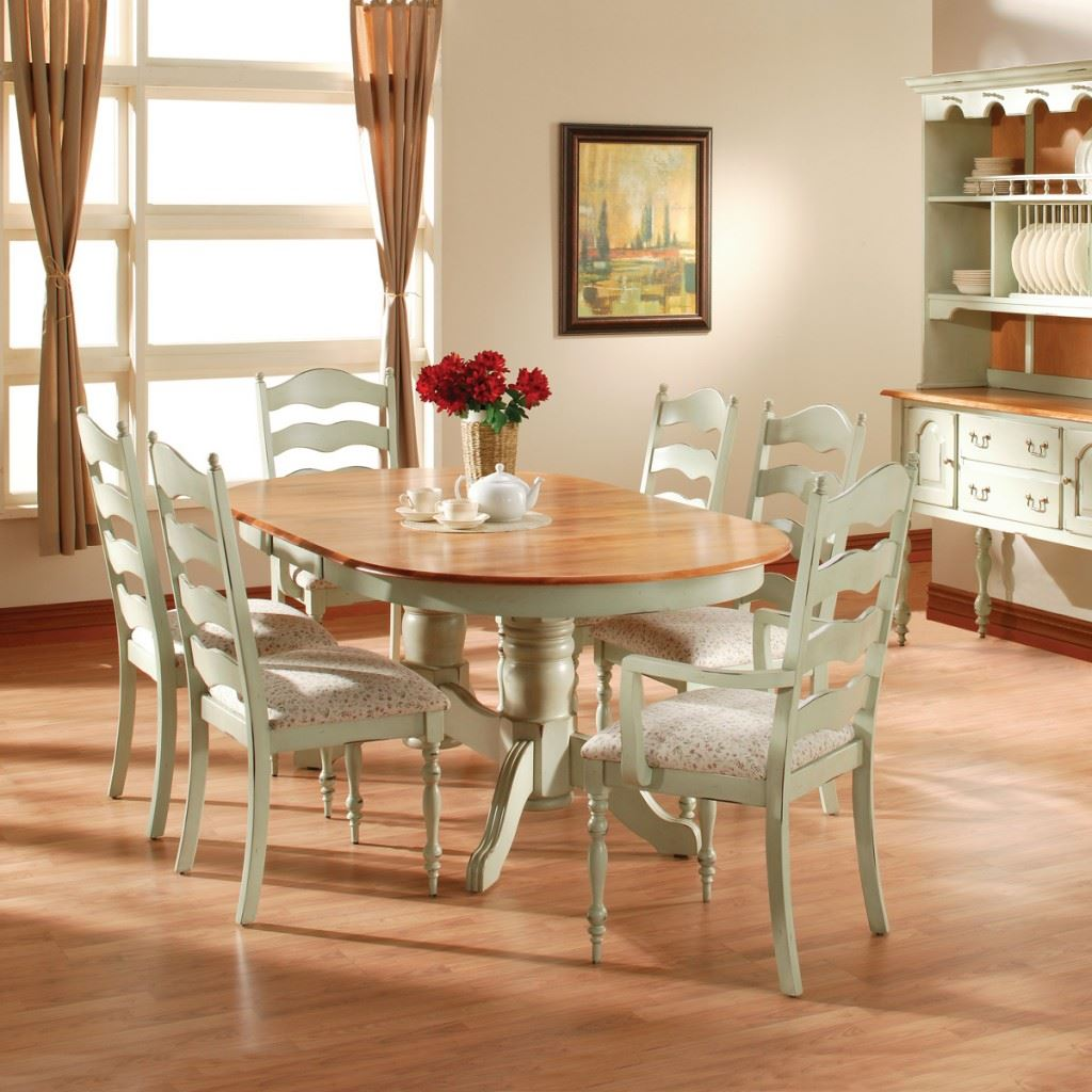 Ladderback Oval Dining Set