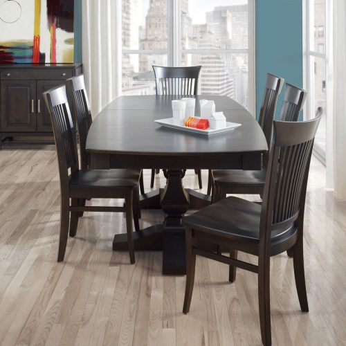 Metro Boat Shape Dining Set