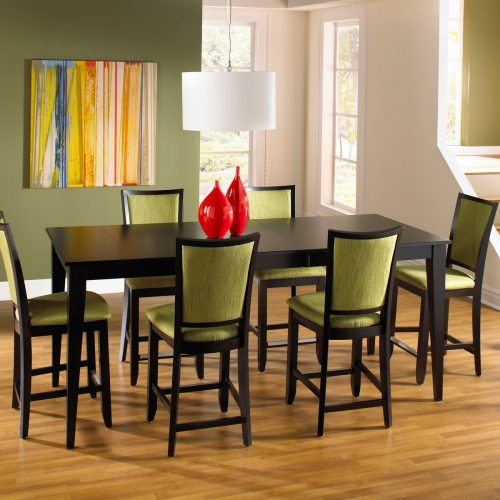 Cushion Back High Dining Set