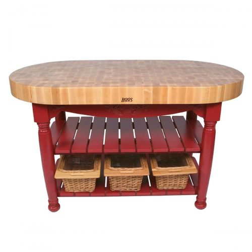 Harvest Oval Kitchen Island