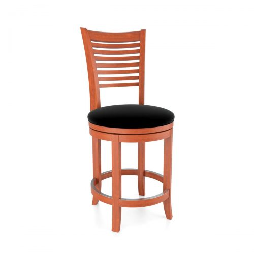 Horizontal Slatback Swivel Stool