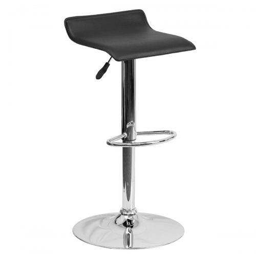 Low Back Adjustable Bar Stool - Black