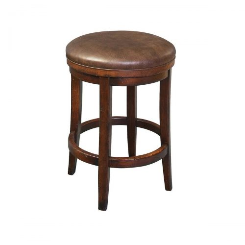 Milano Leather Swivel Stool