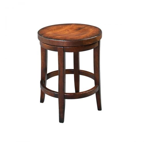 Milano Wood Swivel Stool