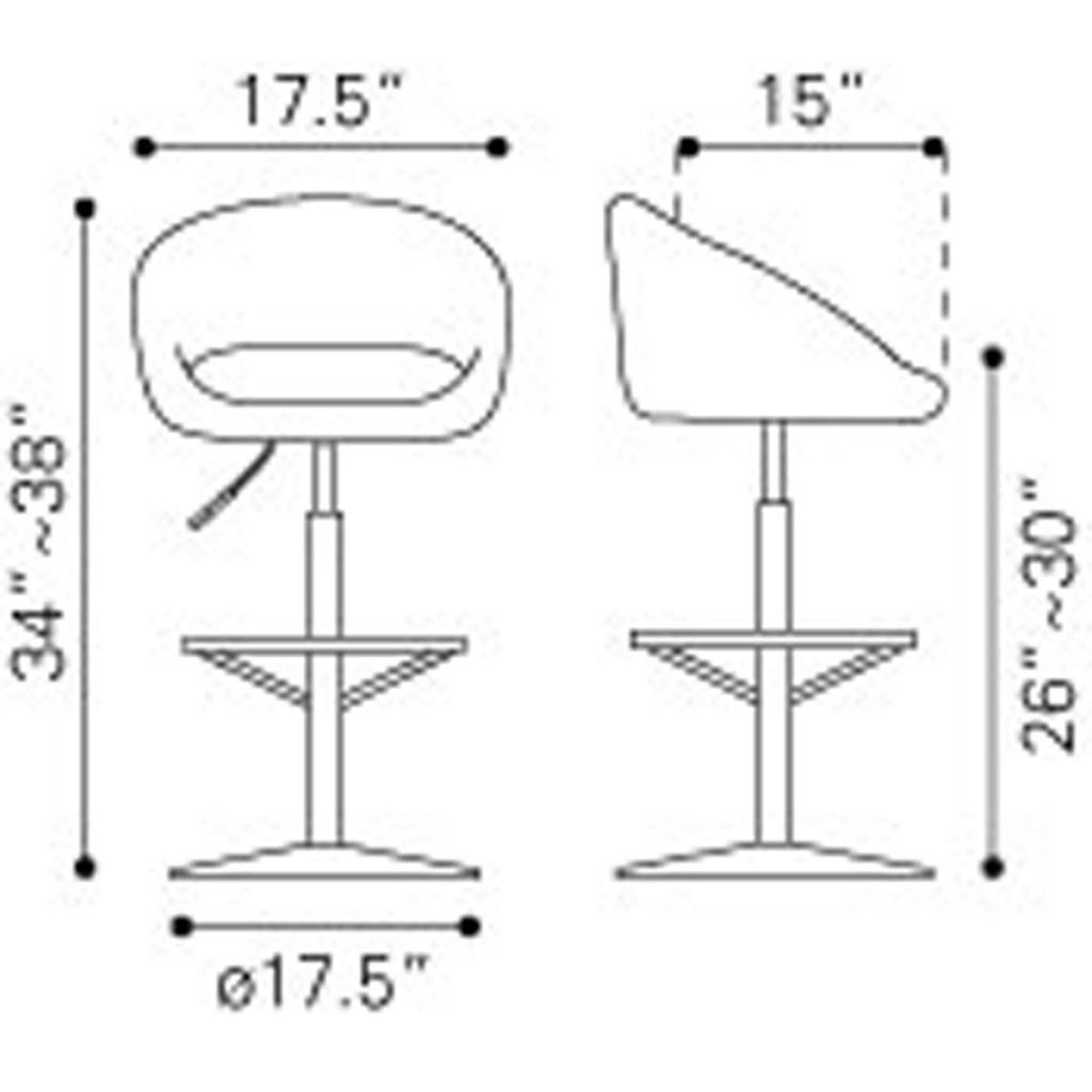Concerto Bar Chair Dimensions