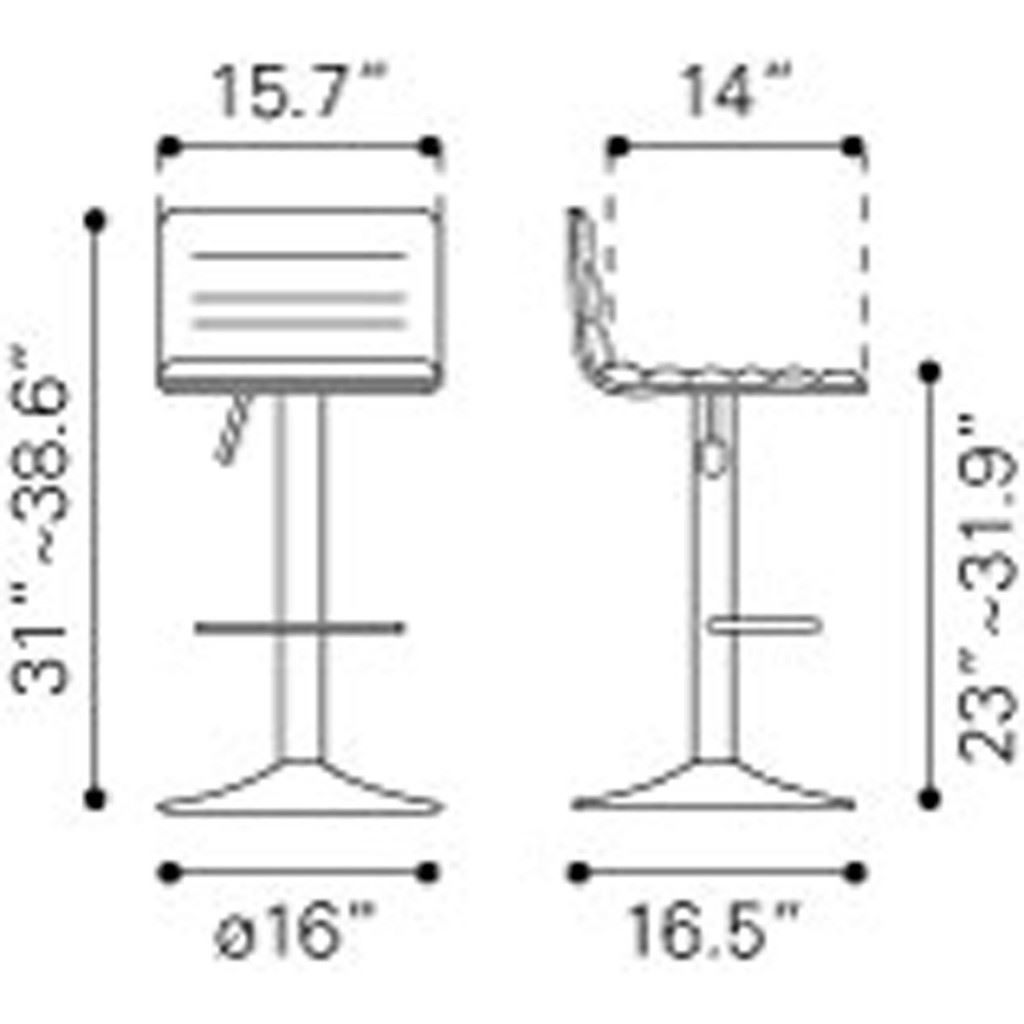 Equation Bar Chair Dimensions