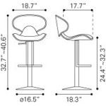 Fly Bar Chair Dimensions