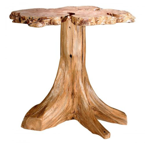 Rustic Log Burl Accent Table