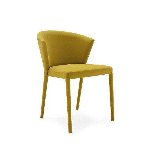Amelie Wooden Chair With Upholstered Seat