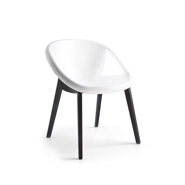 Bloom Wooden and Polycarbonate Chair