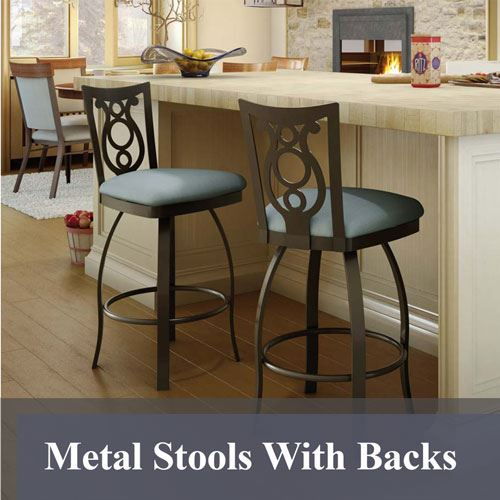 Metal Stools With Backs