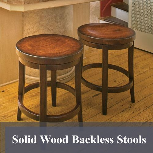 Solid Wood Backless Stools