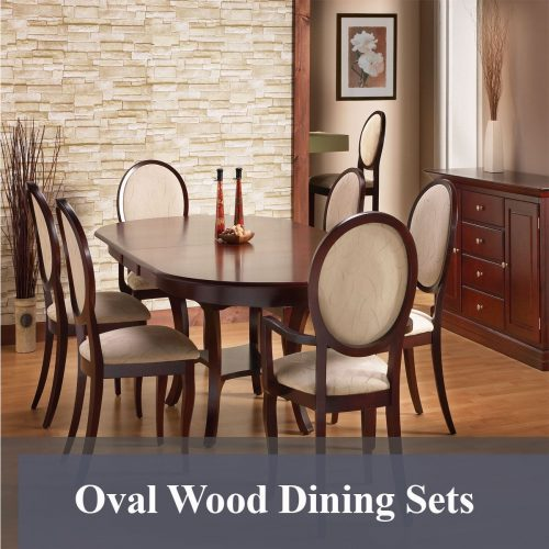 Oval Wood Dining Sets