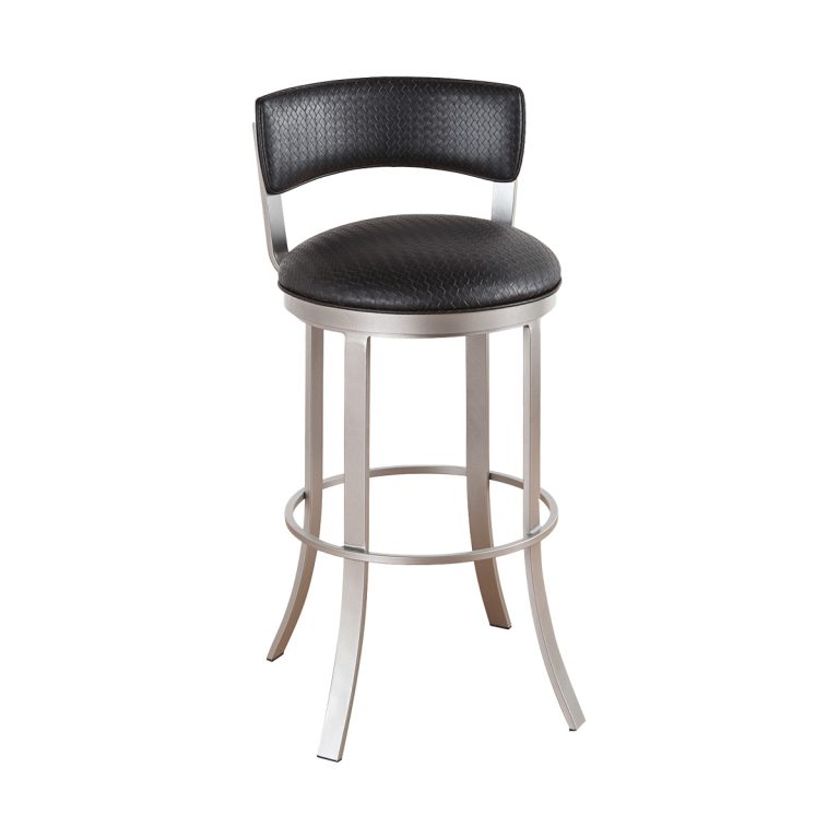 Bailey Upholstered Back Swivel Stool