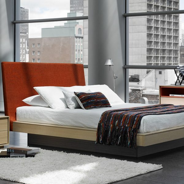 Azura Bed With Upholstered Headboard Setting