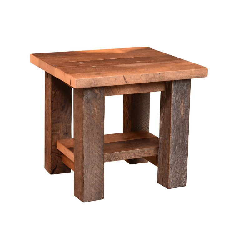 Almanzo End Table with Shelf