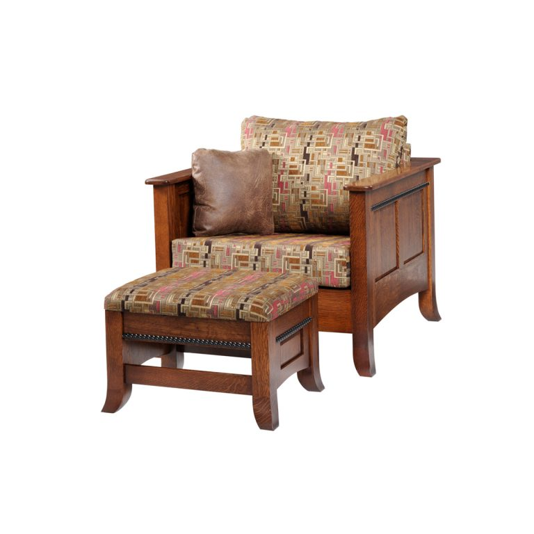 Cranberry Chair With Ottoman