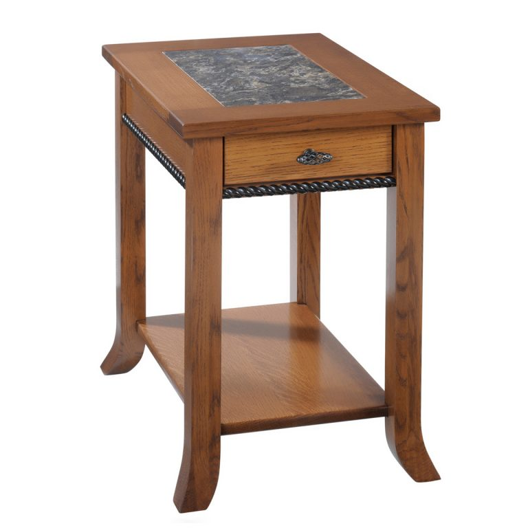 Cranberry Chairside Table With Cambria Top