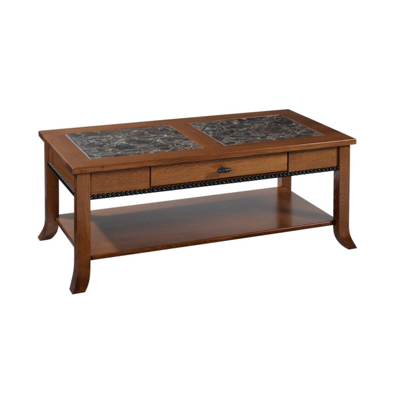 Cranberry Coffee Table With Cambria Top