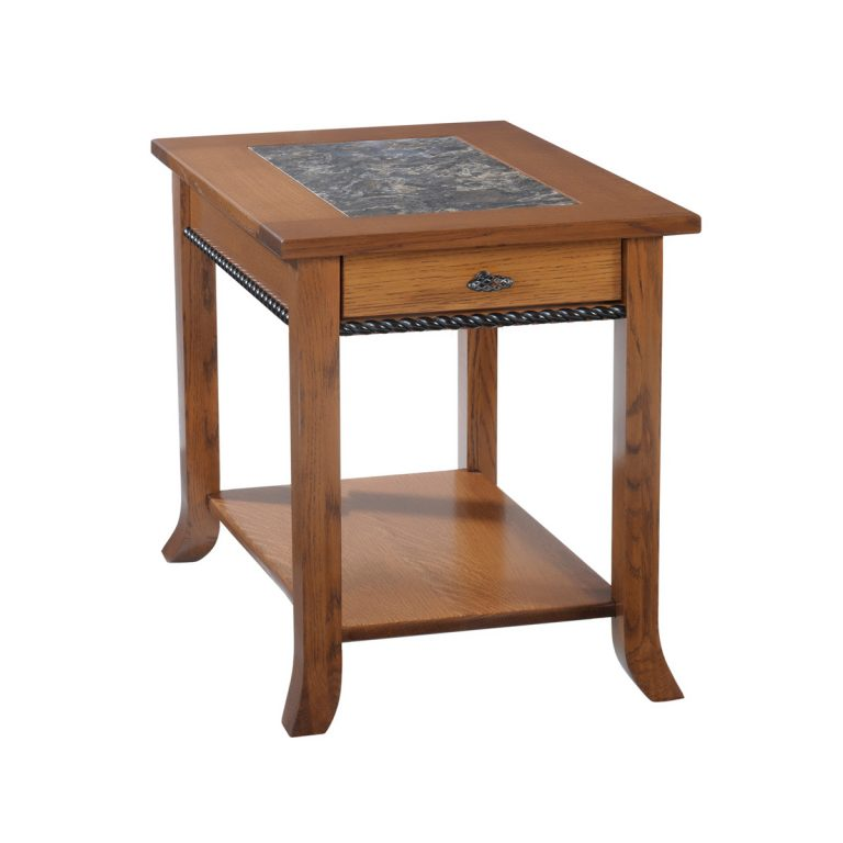 Cranberry End Table With Cambria Top
