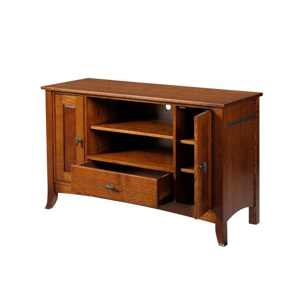 Cranberry TV Stand Open