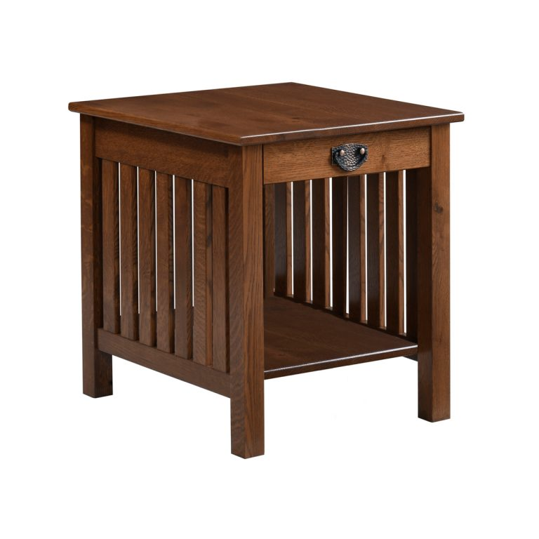 Liberty Mission End Table Open