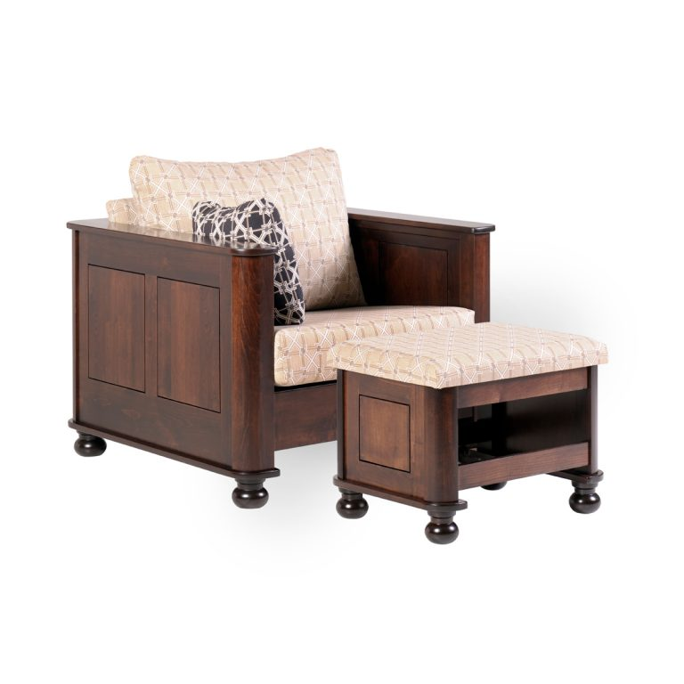 Metro Chair With Ottoman