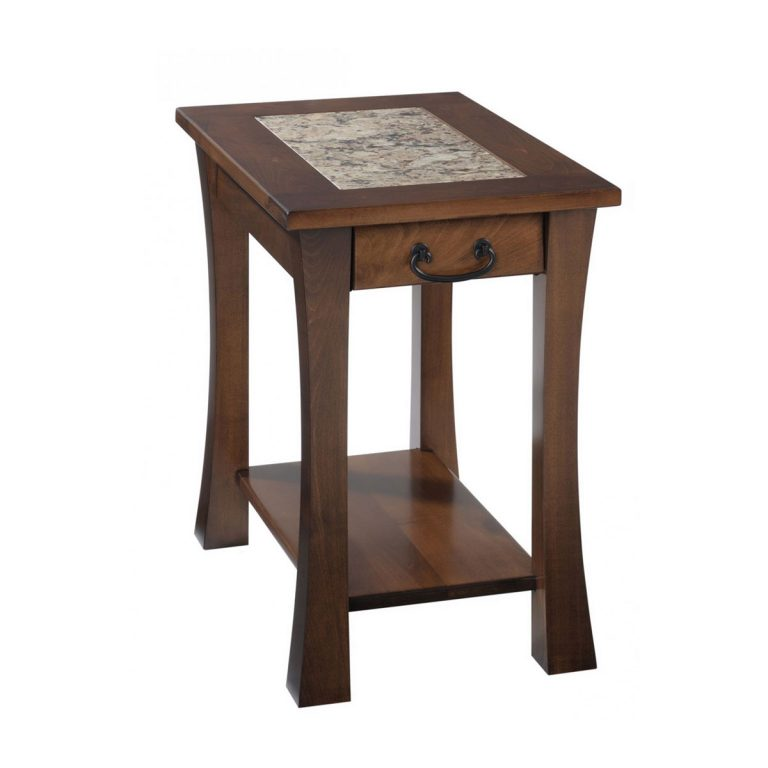 Woodbury Chairside Table With Cambria Top