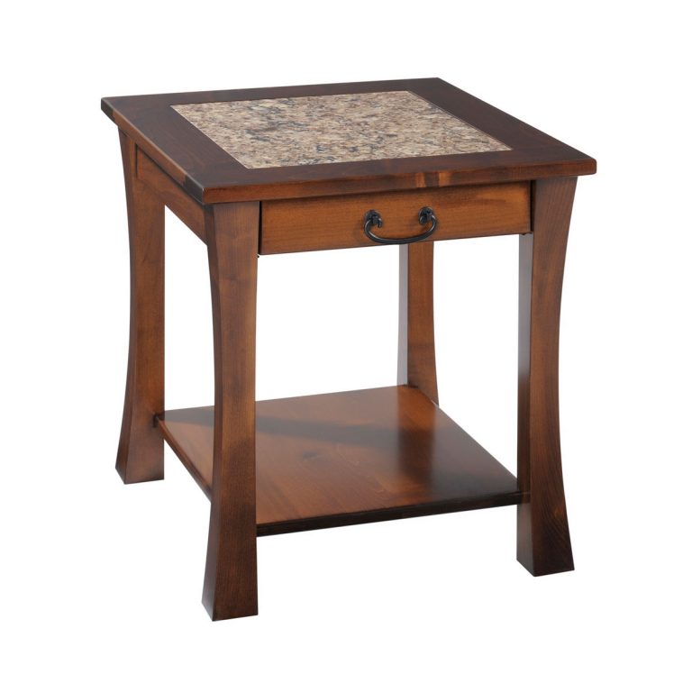 Woodbury End Table With Cambria Top