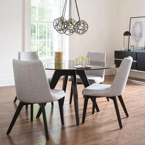 Downtown Round Glass Dining Set
