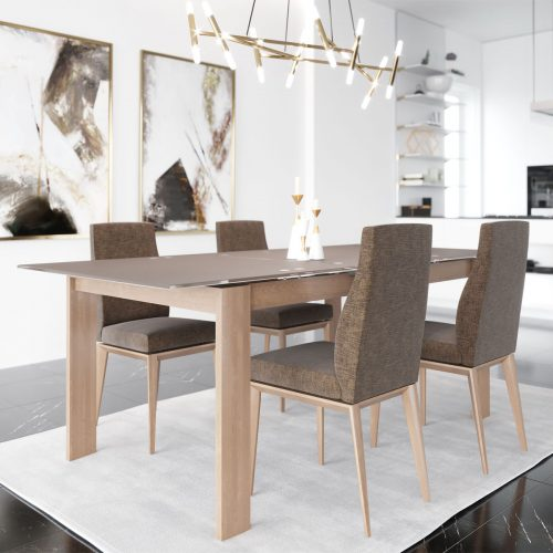 Downtown Expandable Glass Dining Set