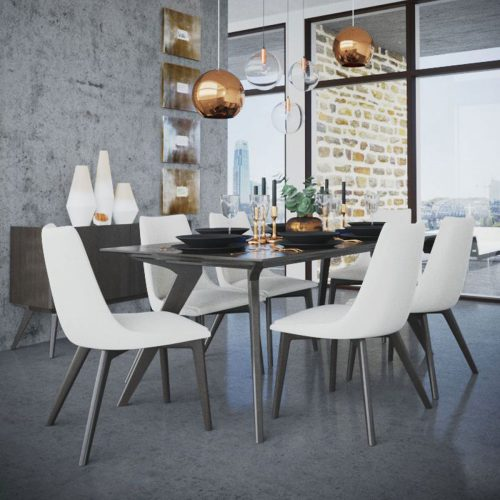 Downtown Rectangle Wood Dining Set